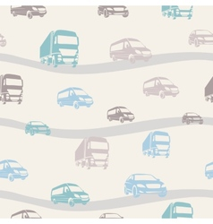 Seamless pattern with cars vector