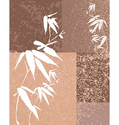 Zen bamboo vintage background vector