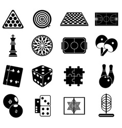 Indoor games icons set vector