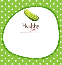 Healthy food and writing space vector