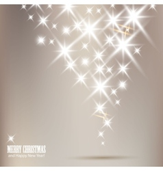 elegant christmas background with shiny stars and  vector image