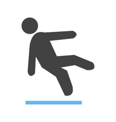 Falling off ice vector