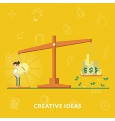 Business concept creative ideas more money vector