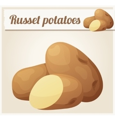 Russet potatoes detailed icon vector