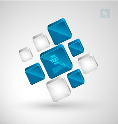 Abstract cubes with place for text vector image vector image