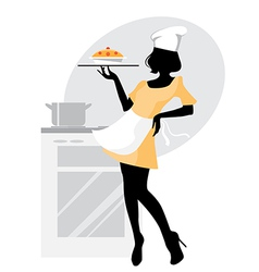Baker girl vector