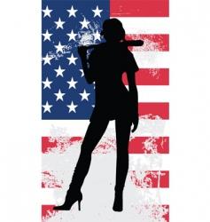 baseball woman grunge vector image vector image