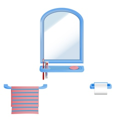 Bathroom set vector