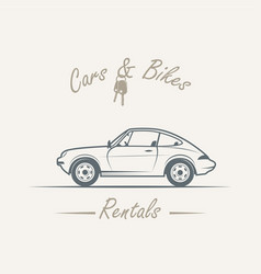 Car in vintage style vector