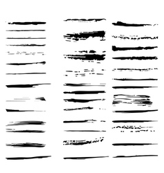 Collection of design elements grunge brush strokes vector