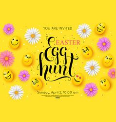 easter egg hunt flyer invitation vector image vector image