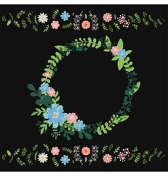 Floral wreath decoration vector image