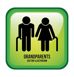 grandparents design vector image