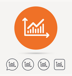 graph icon business analytics chart sign vector image