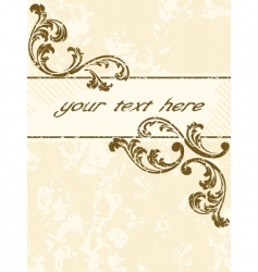 grungy vintage sepia banner vertical vector image vector image