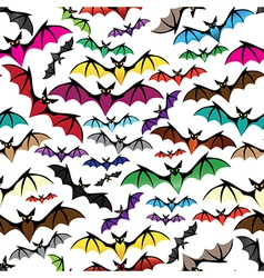 Halloween bat seamless pattern vector image vector image