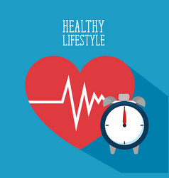 healthy lifestyle for healthy heart vector image