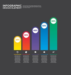 Infographic business report template layout vector image vector image