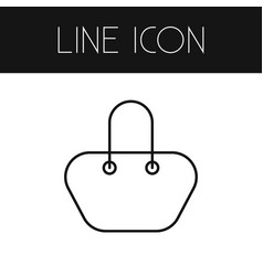 Isolated bag outline handbag element can vector