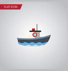isolated vessel flat icon transport vector image vector image