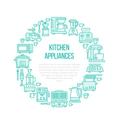 kitchen small appliances equipment banner vector image