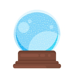 New year and xmas glass ball vector