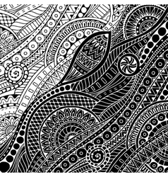Ornamental ethnic black and white pattern can be vector