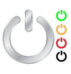 power switch sign icon set vector image vector image
