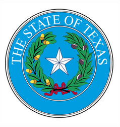 Texas state seal vector