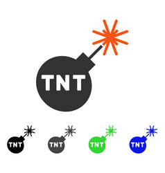 tnt bomb flat icon vector image