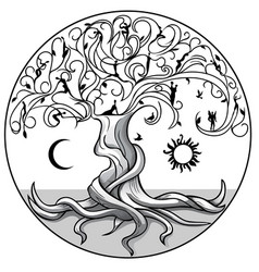 tree of life2 vector image