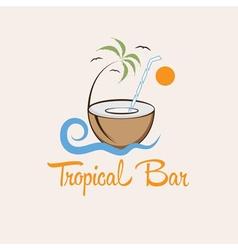tropical bar design template vector image vector image