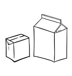 two paperboard boxs vector image vector image