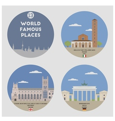 World famous places vector image vector image