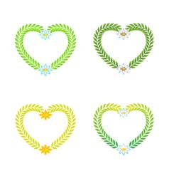 wreath as a heart vector image vector image