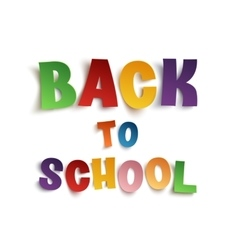Back to school hand drawn typeface vector