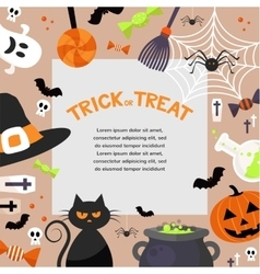 Halloween background  flat vector
