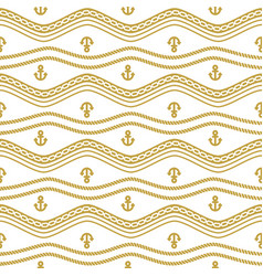 Seamless pattern with ropes and chains ongoing vector