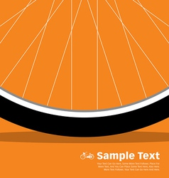 Bike Poster Wheel vector image