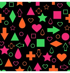 Bright abstract elements seamless pattern vector