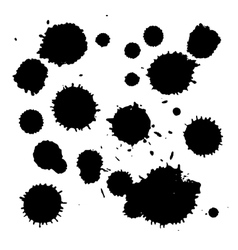 Splatter set vector image