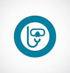 diving mask icon bold blue circle border vector image