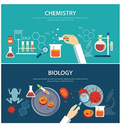 Chemistry and biology education concept vector