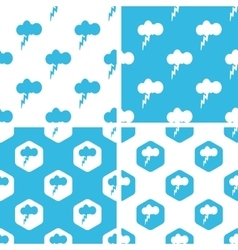 Thunderbolt patterns set vector