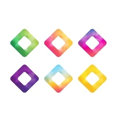 Square icon abstract logo template vector