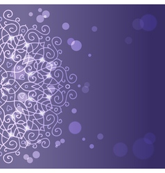 Abstract purple background with mandala ornament vector image