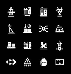 Set icons of power industry vector