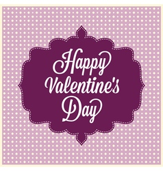 Happy valentines day vintage card vector