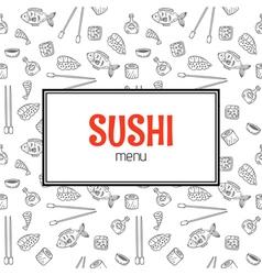 Restaurant sushi menu design menu template with vector