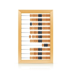Vintage wooden abacus vector